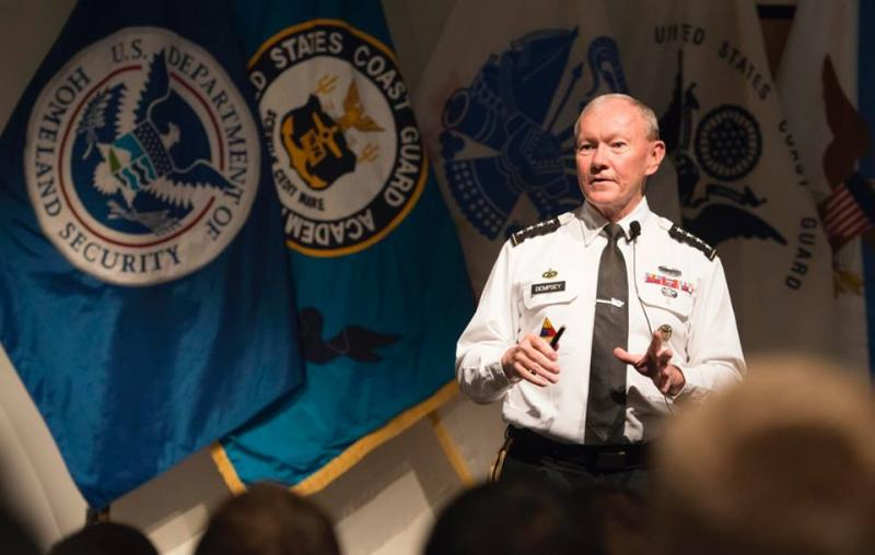 Chairman of the Joint Chiefs of Staff, U.S Army Gen. Martin Dempsey visited Connecticut this week. First talking with the senior class at the Coast Guard Academy on Tuesday and then speaking to business leaders on Wednesday.