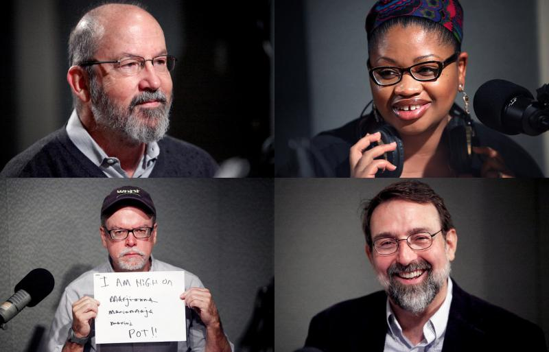 Today's edition of The Wheelhouse featured Jon Lender, Khalilah Brown-Dean, Mark Pazniokas, and Colin McEnroe (Clockwise from top-left)