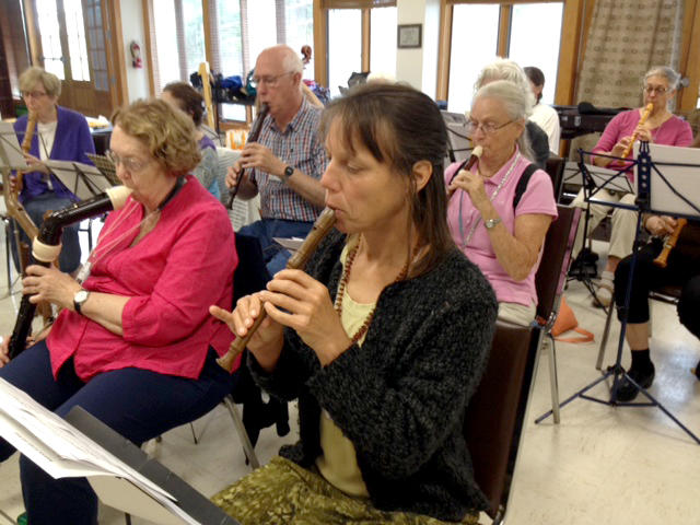 The Eastern Connecticut Recorder Society practices together in Middlefield.
