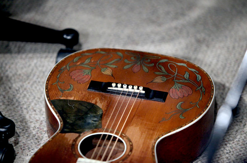 One of Anderson's guitars.