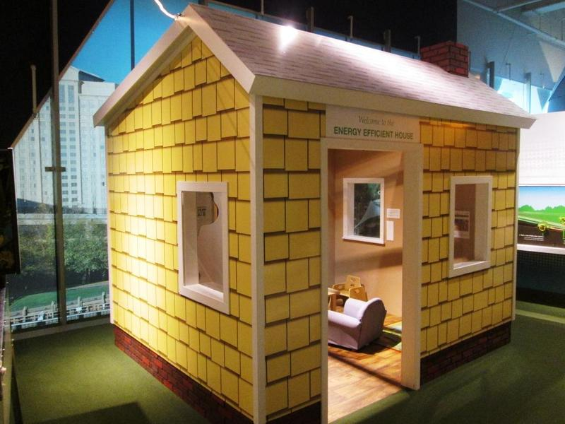 Children can play in an energy conservation house.