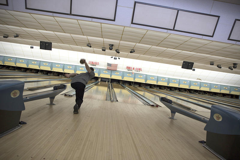 Kyle Shaw, a senior at Eastern Connecticut State University, bowls at Lucky Strike Lanes in Mansfield. He was ranked first in the state in men's duckpin bowling.