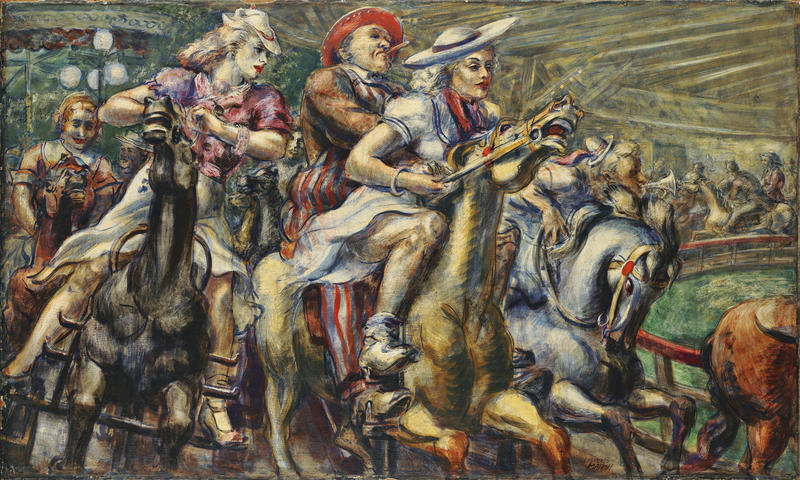Reginald Marsh, Wooden Horses