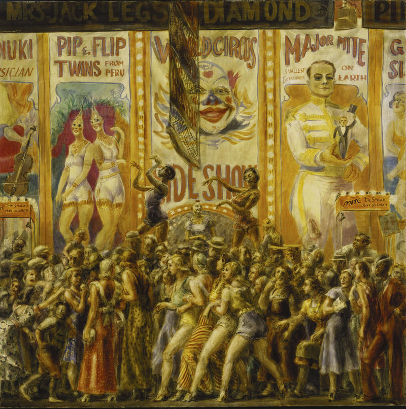"""The Nickel Empire"" attracted people from all walks of life to its boardwalks. Coney Island even brought the exotic to Brooklyn in the form of sideshow artists like ""Major Mite"" and ""Pip and Flip."""