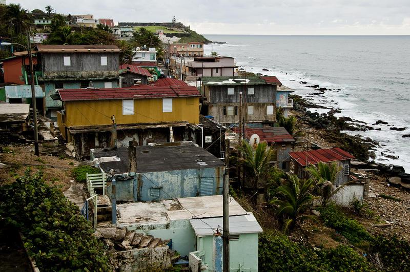 La Perla is an ocean-side neighborhood in Old San Juan outside the walls of Castillo de San Cristóbal