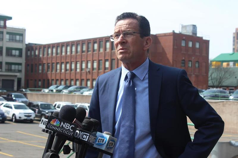 Gov. Dannel Malloy under the Hartford I-84 viaduct.