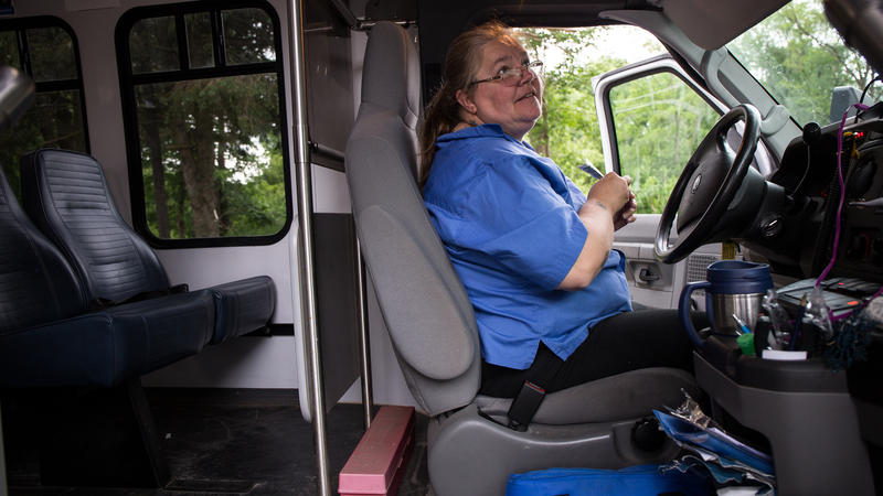 Margo Rossiter is a Dial-A-Ride bus driver for the Windham Region Transit District.