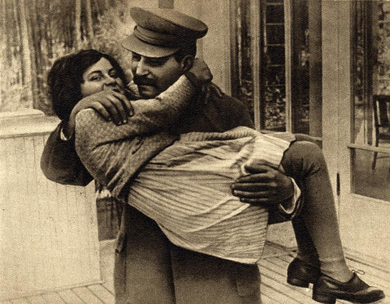 Joseph Stalin with his only daughter, Svetlana 1935.