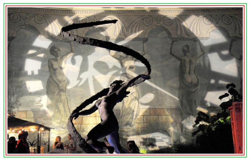 "Renee Rhodes' 11-foot bronze sculpture, ""Gaia"" from 2005"