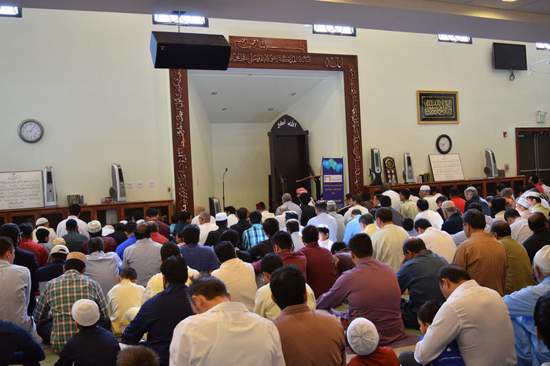 Hundreds attend prayer services at Berlin Mosque to observe Eid al-Fitr.