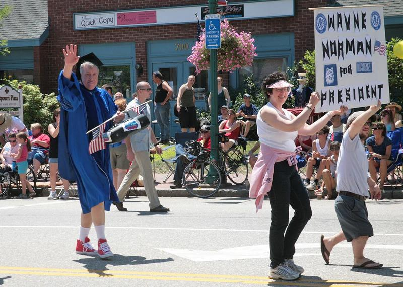 """Radio personality Wayne Norman serves as the grand marshal every year for Willimantic's """"boom Box"""" Parade."""