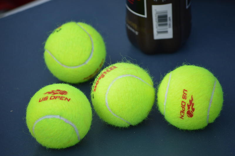 Match-used balls from the 2015 singles final.