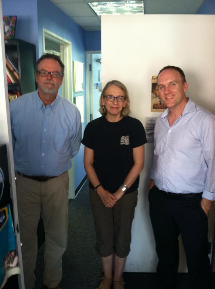 From left: Colin McEnroe, Roz Chast, Jeremy Clowe.