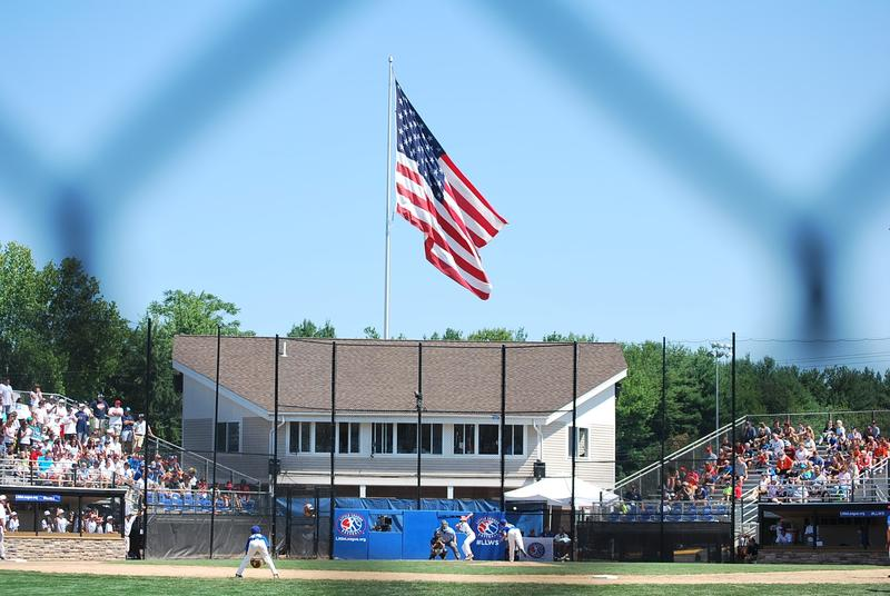 Waterford, Conn., played West Cranston, R.I., today in the New England Regional Little League Tournament in Bristol.