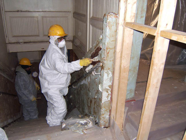 Great Western Painting lead-based paint abatement at Hampstead House, Baltimore, Maryland.