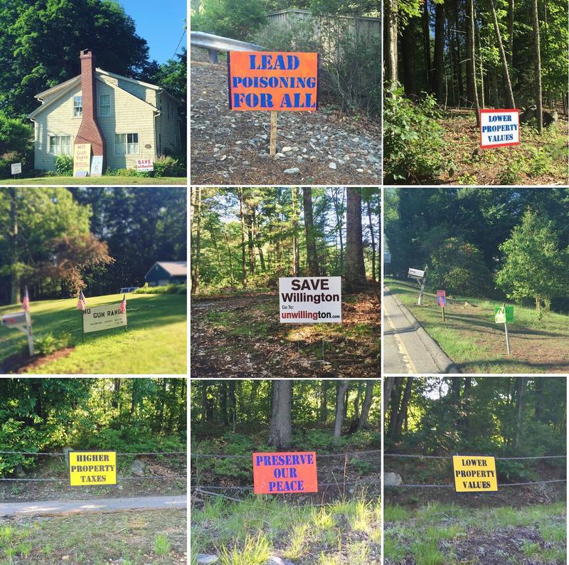 UnWillington signs.