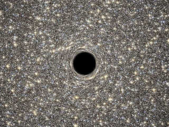 A supermassive black hole.