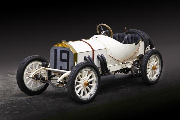 A 1908 Mercedes Brooklands, sister cars of which nearly won the Indy 500 in 1911 and 1912.