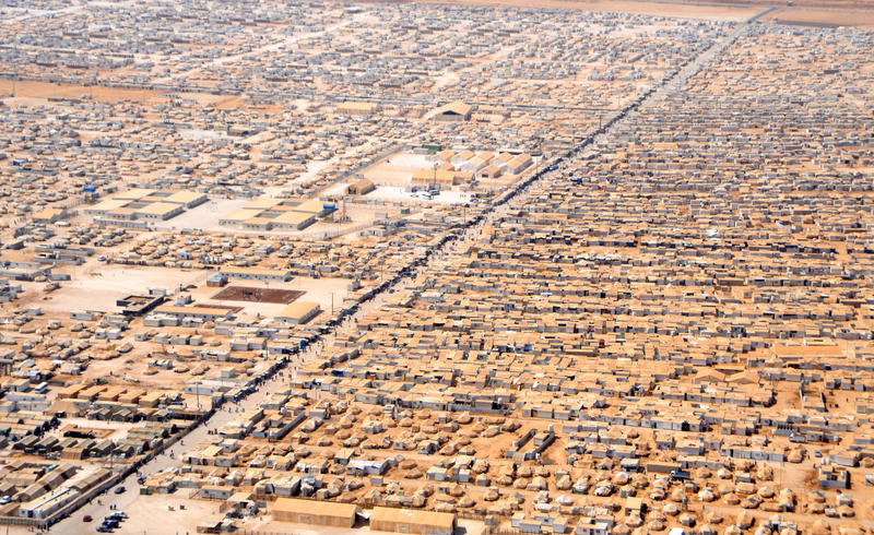 One of the refugee camps for Syrians fleeing to Jordan.