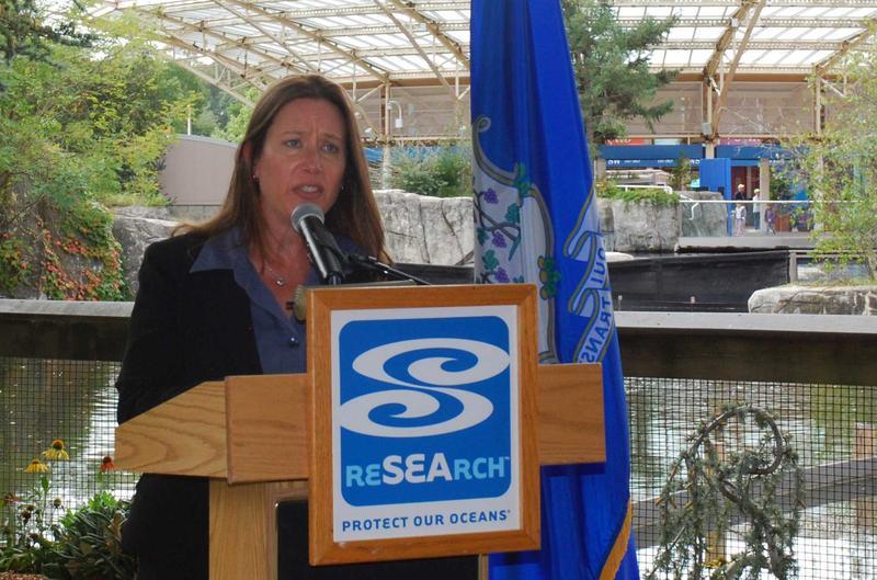 Katie Cubina,  senior vice president for mission programs at Mystic Aquarium.