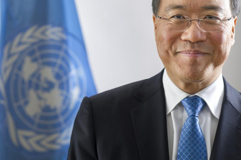 Portrait of cellist and United Nations Messenger of Peace Yo-Yo Ma, taken September 21, 2015.