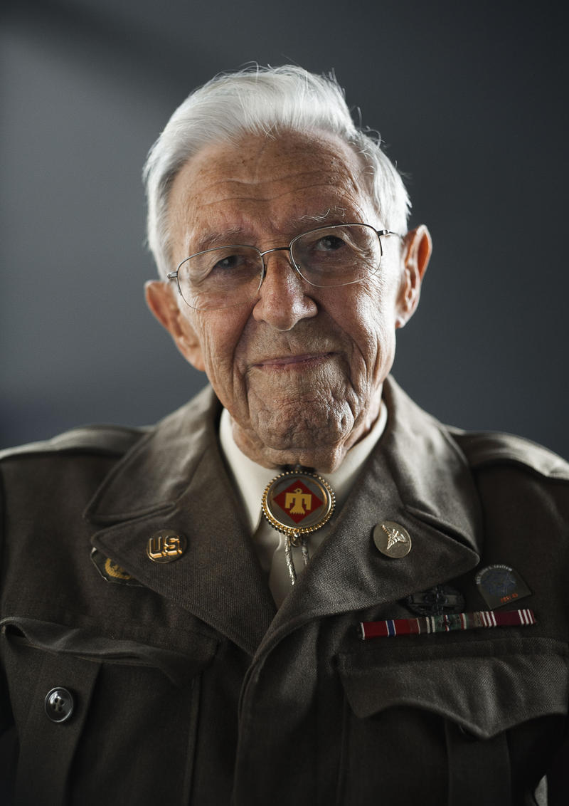 Ben Cooper is a World War II veteran who served with the U.S. Army's 45th Infantry Division.