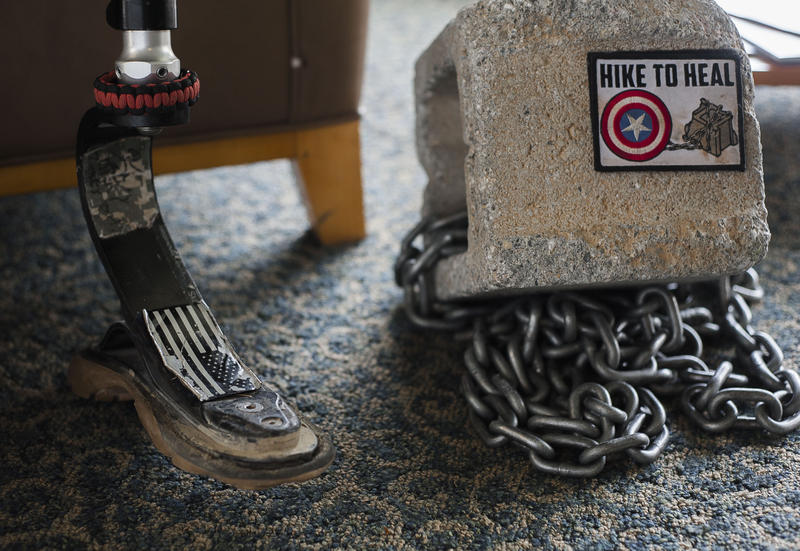 Earl Granville is an adaptive athlete. He competes in obstacle courses carrying a 40 lb cinder block to signify mental health struggles among some veterans