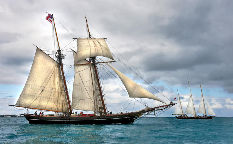 The Amistad schooner.