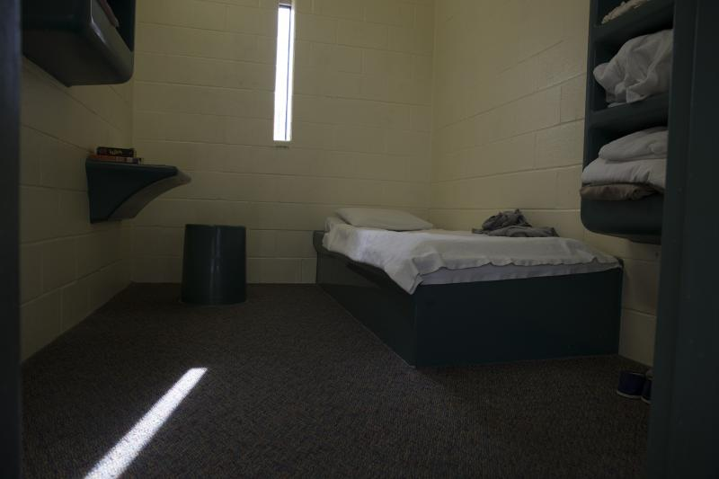A bedroom in the intake unit of the Connecticut Juvenile Training School in November 2015.
