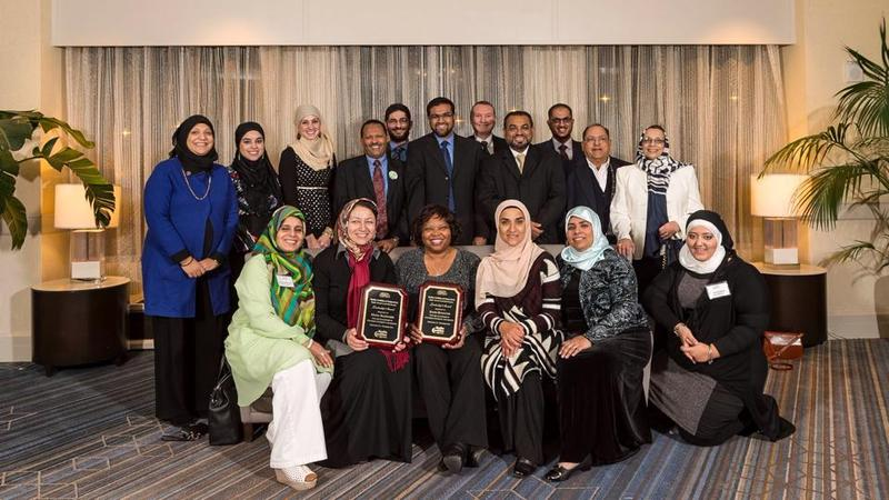 Last year's awardees at the Muslim Coalition of Connecticut‎'s annual leadership banquet.