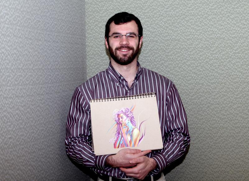 Brian Owens in the WNPR studio in January 2016.