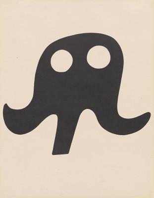 """Jean Arp's Dada lithograph """"Schnurrhut"""" (mustache hat), 1923."""