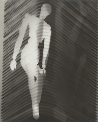 "Man Ray's ""Manikins and Grate"", 1923-24. Gelatin silver print."
