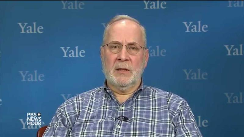 Eugene Fidell during an appearance on PBS NewsHour.