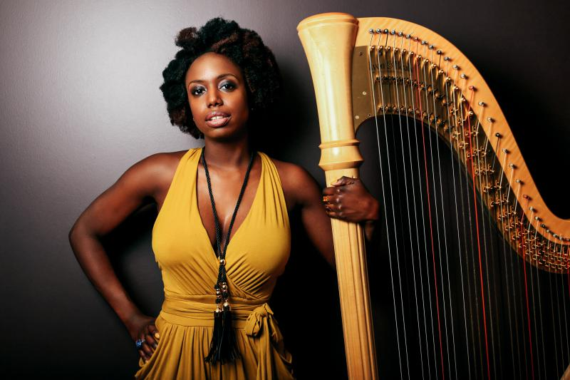 Composer and harpist Brandee Younger, who recently released her latest album, Wax & Wane.