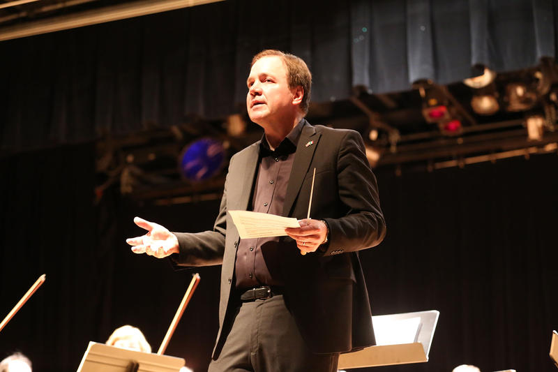 Composer Larry Alan Smith, a professor of composition at the University of Hartford's Hartt School. He will be taking over as curator of the school's Richard P. Garmany chamber music concert series.