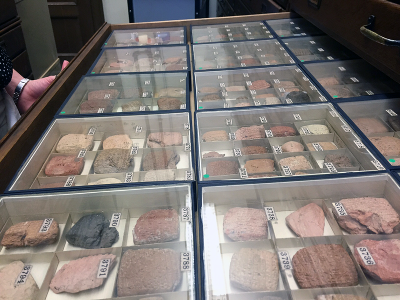 Clay tablets from the Yale Babylonian collection.