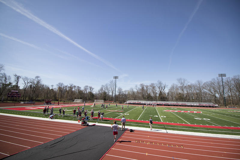 An athletic field at Sacred Heart University.