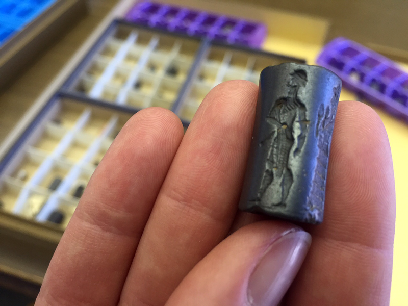 A cylinder seal from the Yale Babylonian collection.