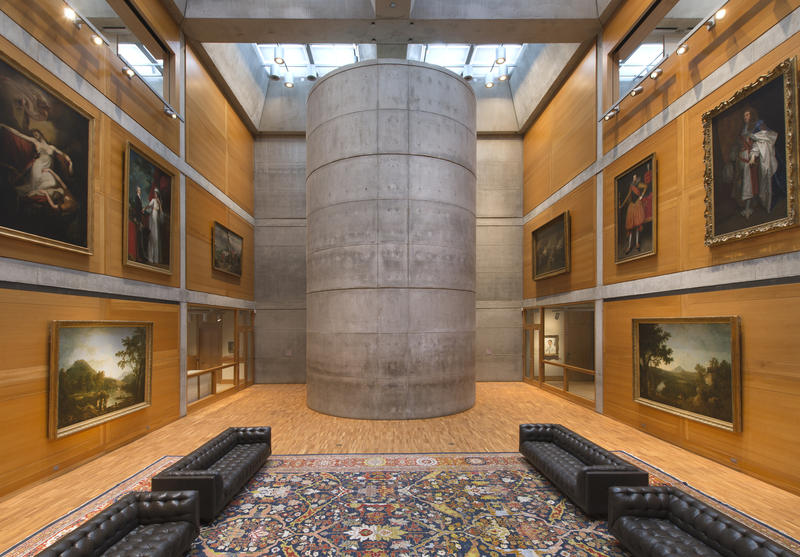 Yale Center for British Art, Library Court following reinstallation.
