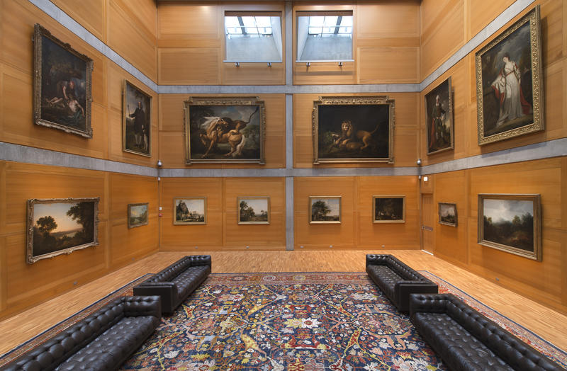 Yale Center for British Art, Library Court following reinstallation