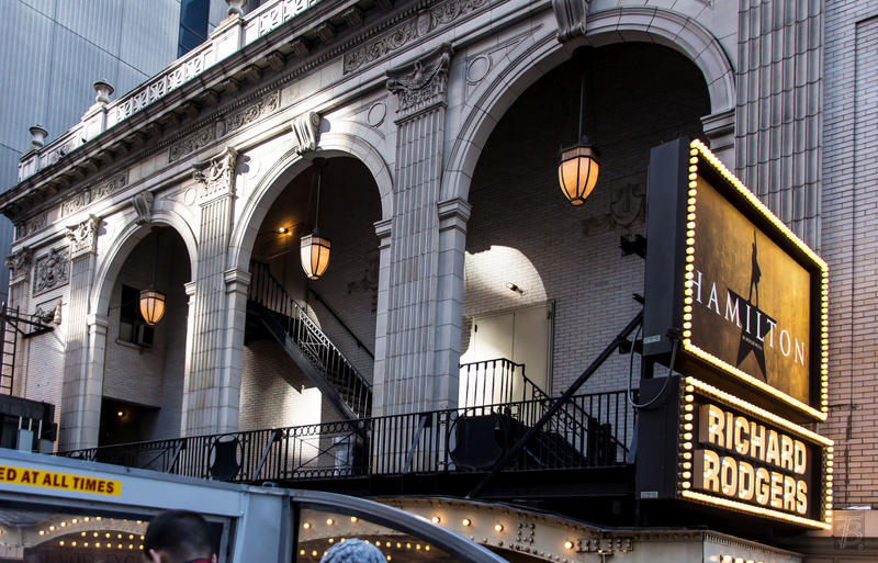 Outside the Richard Rogers Theatre in New York City.