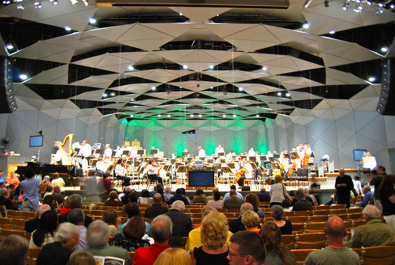 The Boston Pops performing at Tanglewood in Lenox, Massachusetts.