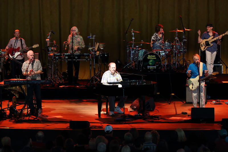 Brian Wilson performing some of the Beach Boys' greatest hits in concert at Tanglewood in June 2016.