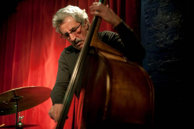 Mario Pavone and his bass.