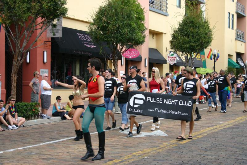 Pulse night club was represented in the Come Out with Pride Parade in Orlando in 2009.