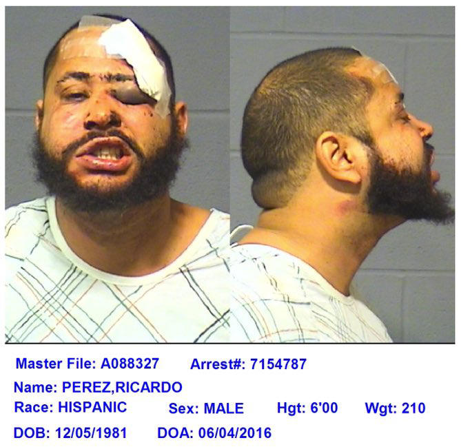 Ricardo Perez's mugshot.