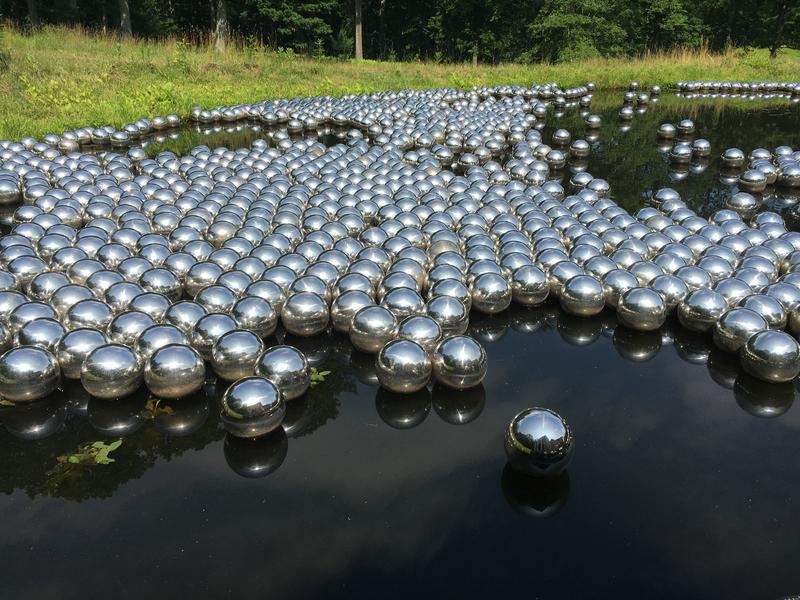 Yayoi Kusama's Narcissus Garden at the Philip Johnson Glass House.