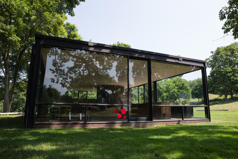 The Glass House in New Canaan, Connecticut.