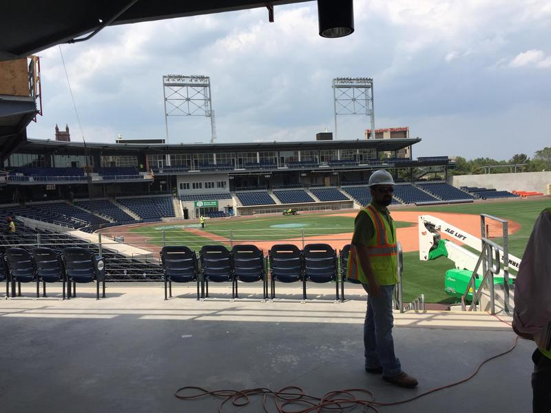 Dunkin' Donuts Park in Hartford was under construction, and then stalled earlier this year. The delay caused the Hartford Yard Goats to play an entire first season with no home stadium.
